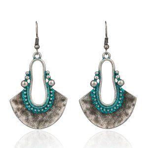 3/$20 New Silver & Turquoise Retro Boho Earrings